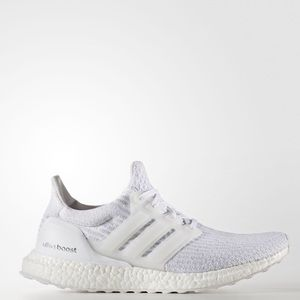 Adidas ultra-boost triple white mens size 9